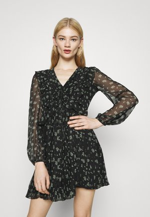 PLEATED MINI - Day dress - black