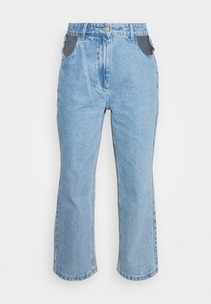BOYFRIEND CUTOUT POCKETS - Straight leg jeans - light blue