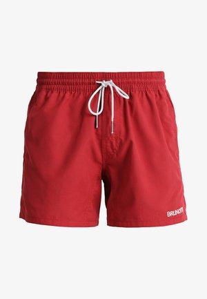 CRUNOT - Swimming shorts - burgundy
