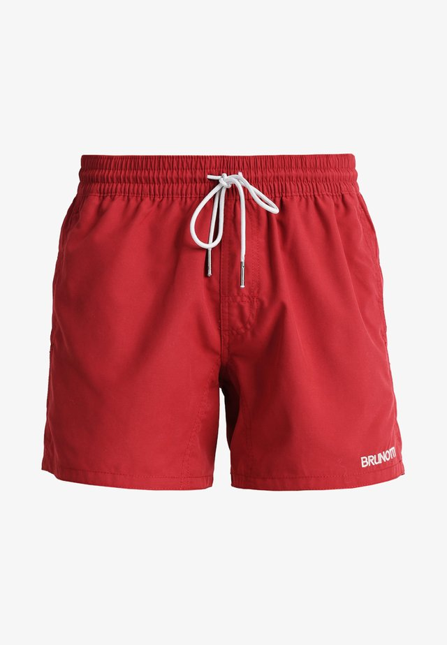 CRUNOT - Swimming shorts - burgundy