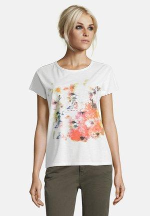 MIT AUFDRUCK - Print T-shirt - rohweiß