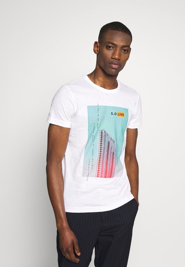 T-SHIRT KURZARM - T-shirt z nadrukiem - white