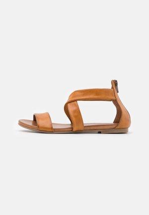 LEATHER - Sandały - brown