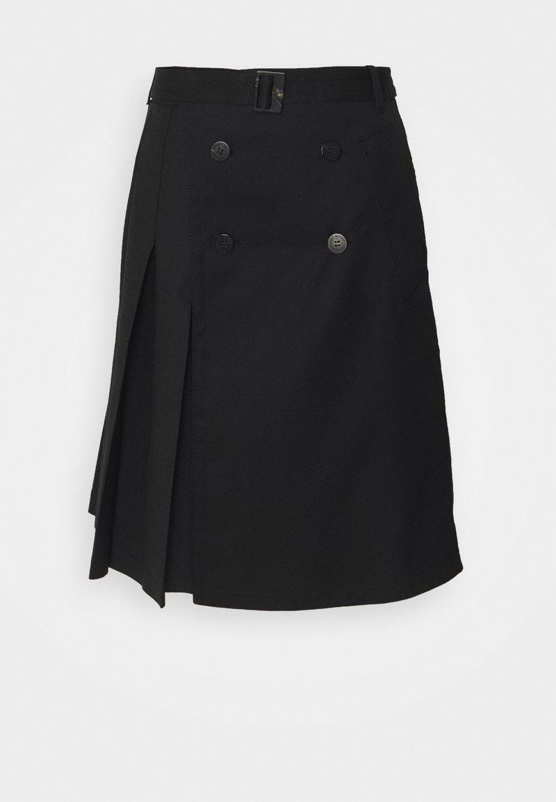 Neil Barrett - HYBRID PLEATED - A-line skirt - black