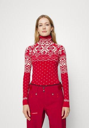 BETTY BASE LAYER - Sportshirt - cardinal red fairisle