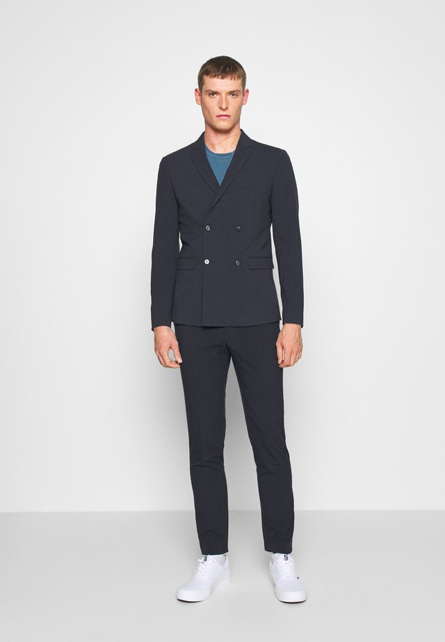 DOUBLE BREASTED SUIT - SLIM FIT - Puku - navy