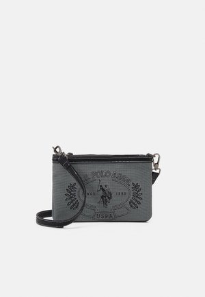 VICTORIA DOUBLE ZIP FLATCROSSBODY - Across body bag - black