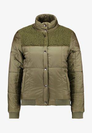 COSY WINTER PUFFER - Winter jacket - sherpa splice burnt olive