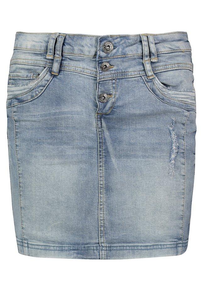 MINIROCK - Denim skirt - blue