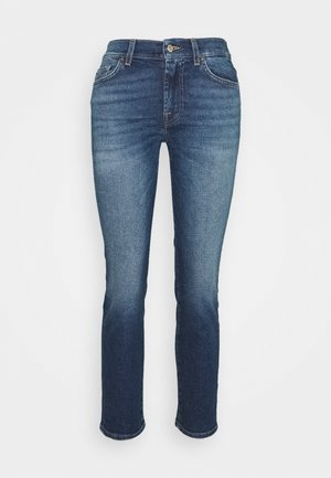 ROXANNE ANKLE - Straight leg jeans - mid blue