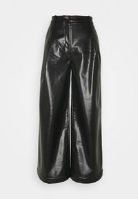 TENLEY CROCO TROUSERS - Stoffhose - black