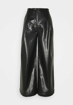 TENLEY CROCO TROUSERS - Trousers - black