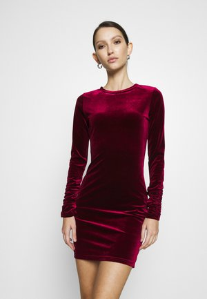 FRIDAY LONG SLEEVE DRESS - Robe fourreau - burgundy