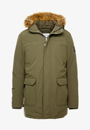 TRIMMED HOODED PADDED  - Down coat - grape leaf