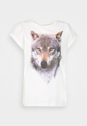 VISBY MOUNTAIN WOLF - Print T-shirt - off-white