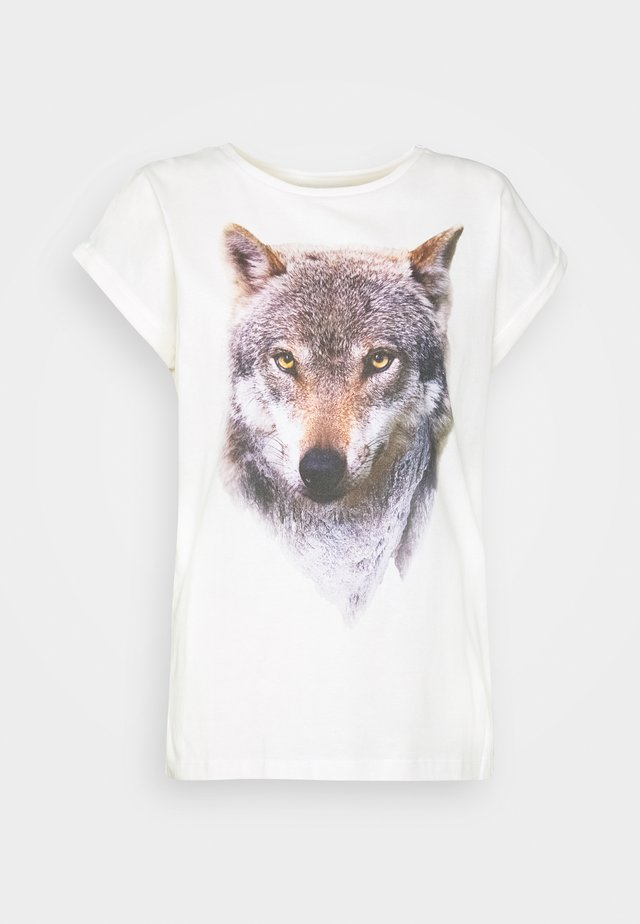 VISBY MOUNTAIN WOLF - T-shirt con stampa - off-white
