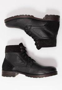 Topman - JACKSON CUFF BOOT - Stivaletti stringati - black - 1