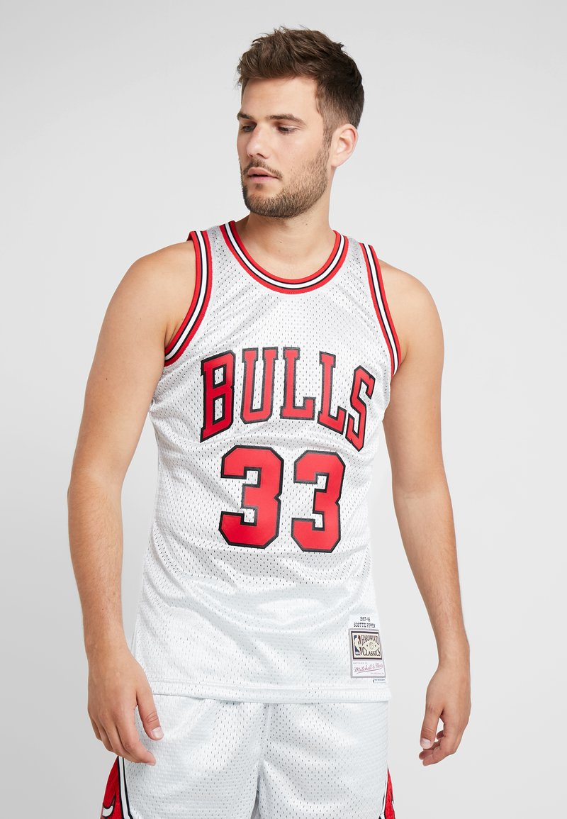 Mitchell & Ness - NBA CHICAGO BULLS PLATINUM SWINGMAN SCOTTIE PIPPEN - Squadra - silver