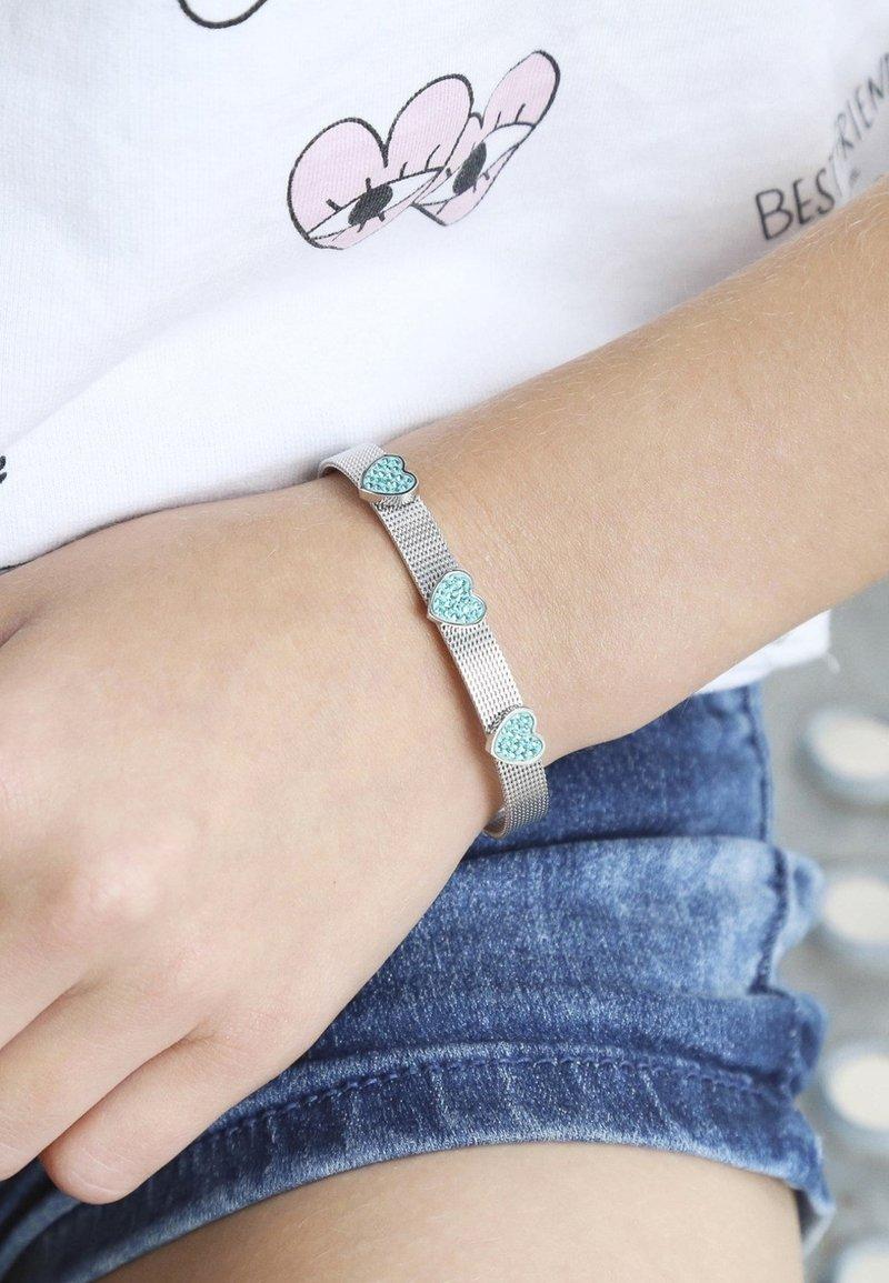 Lucardi - Armband - zilverkleurig/blauw