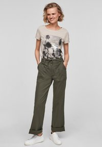 QS by s.Oliver - Trousers - khaki - 1
