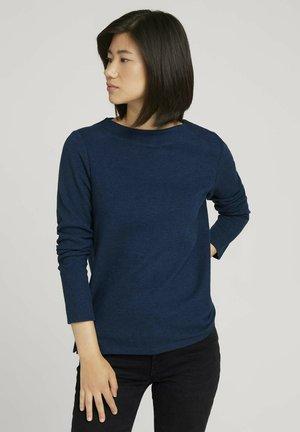 Sweatshirt - blue herringbone design