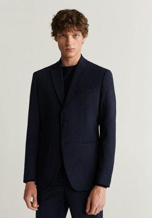 SLIM FIT ANZUGJACKE AUS WOLLSTOFF - Blazer jacket - dunkles marineblau