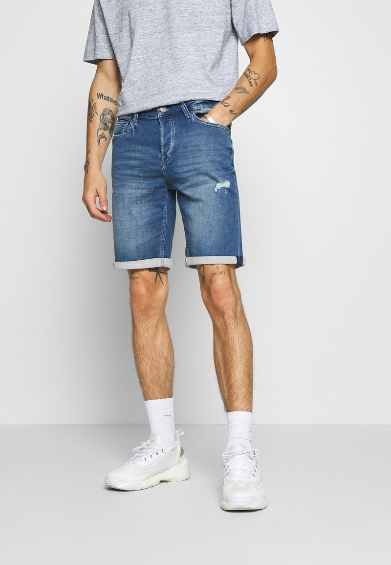 Only & Sons - ONSPLY  - Jeansshorts - blue denim