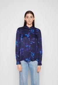 PS Paul Smith - SHIRT - Button-down blouse - dark blue - 0