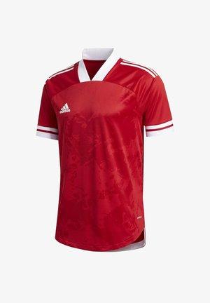 CONDIVO 20 PRIMEGREEN JERSEY - T-shirt imprimé - red