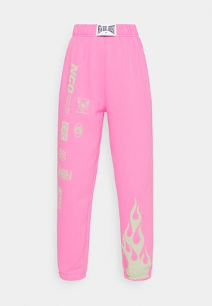 FLAME AND LOGO JOGGER - Joggebukse - pink