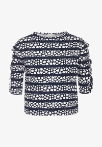 J.CREW - KIKI RUFFLE SLEEVE PRINTED - Print T-shirt - navy/ivory - 0
