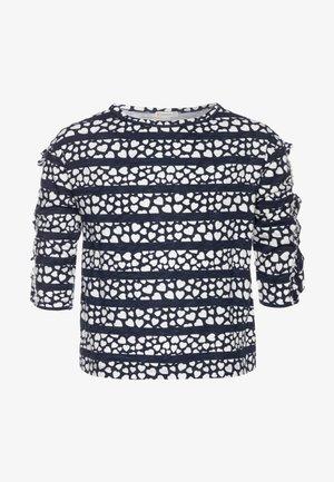 KIKI RUFFLE SLEEVE PRINTED - Print T-shirt - navy/ivory