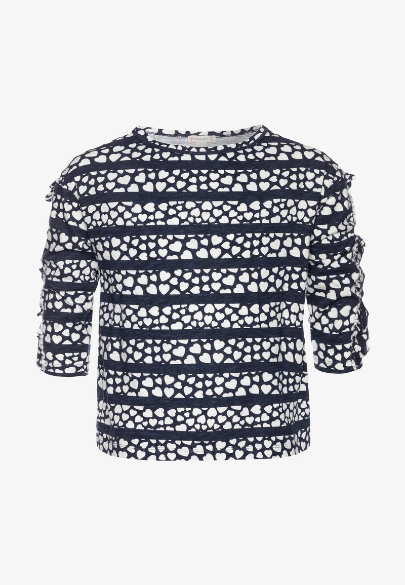 J.CREW - KIKI RUFFLE SLEEVE PRINTED - Print T-shirt - navy/ivory