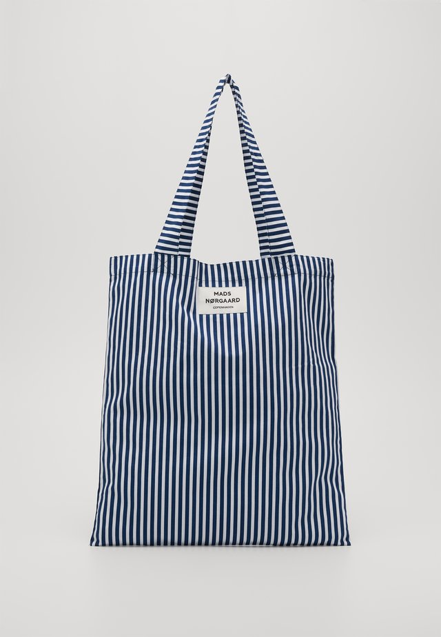 SOFT ATOMA - Shoppingveske - navy/white