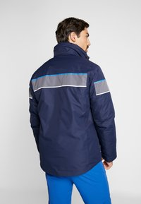 CMP - MAN JACKET ZIP HOOD - Skijacke - black blue - 3