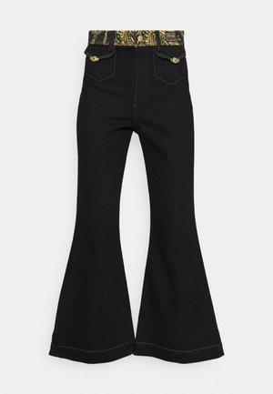 Bootcut jeans - black/gold