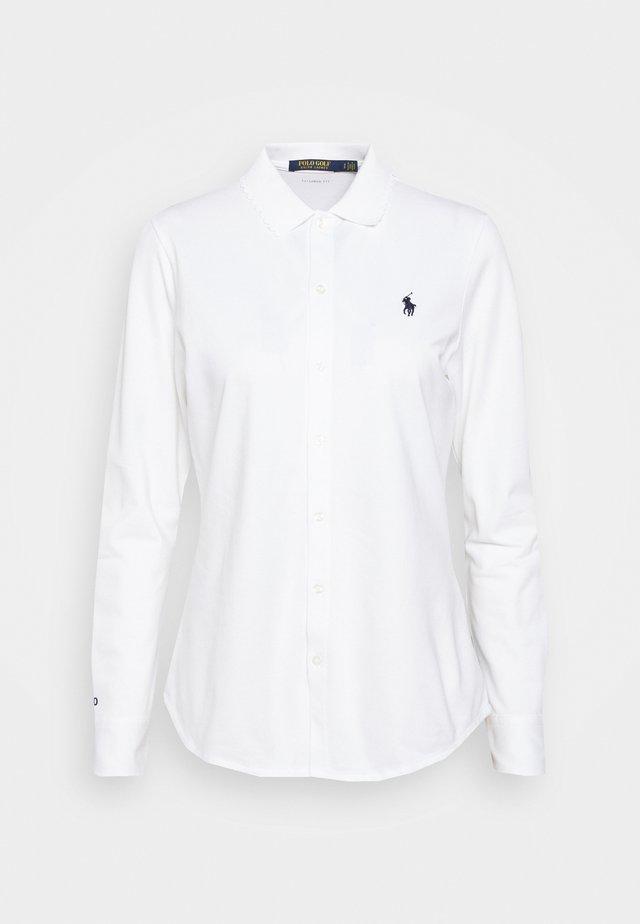 LONG SLEEVE - Polo shirt - pure white
