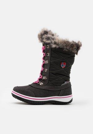 HOLMENKOLLEN UNISEX - Winter boots - steel grey/magenta