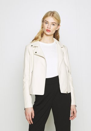 VICARA JACKET - Faux leather jacket - birch