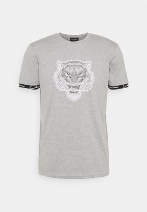HIDDEN LOGOBAND FURY TEE - T-shirt print - grey