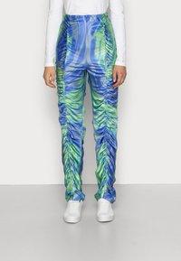 HOSBJERG - Kalhoty - mermaid blue/green - 0