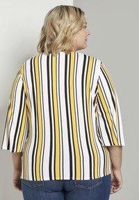 MY TRUE ME TOM TAILOR - WRAP - Long sleeved top - black yellow stripe - 2
