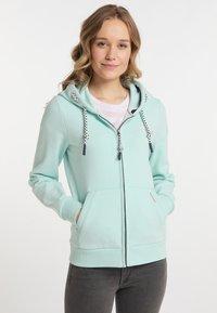 Schmuddelwedda - Zip-up sweatshirt - pastellmint - 0
