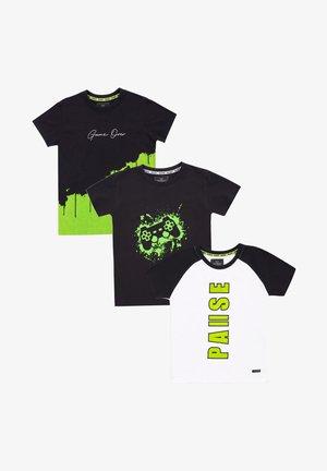 COLORADO 3ER PACK - T-shirt print - black/black/white