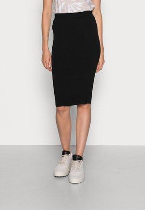 TECHNICAL PENCIL MIDI SKIRT - Pencil skirt - black