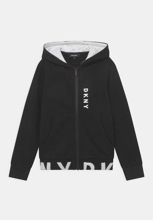 HOODED - Sweater met rits - black