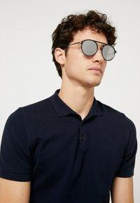 Emporio Armani - Sunglasses - matte black/matte silver - 1