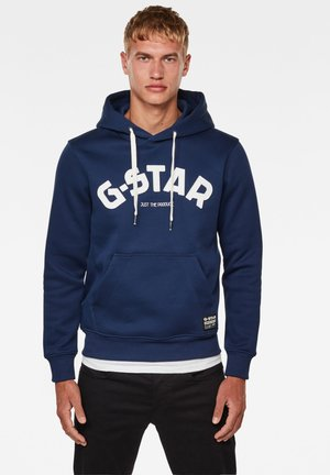 VARSITY FELT HOODED LONG SLEEVE - Hoodie - imperial blue