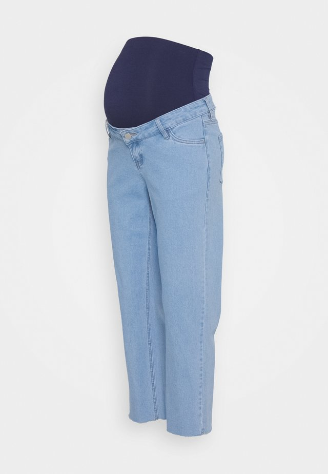 STRAIGHT LEG CROP - Džíny Straight Fit - blue