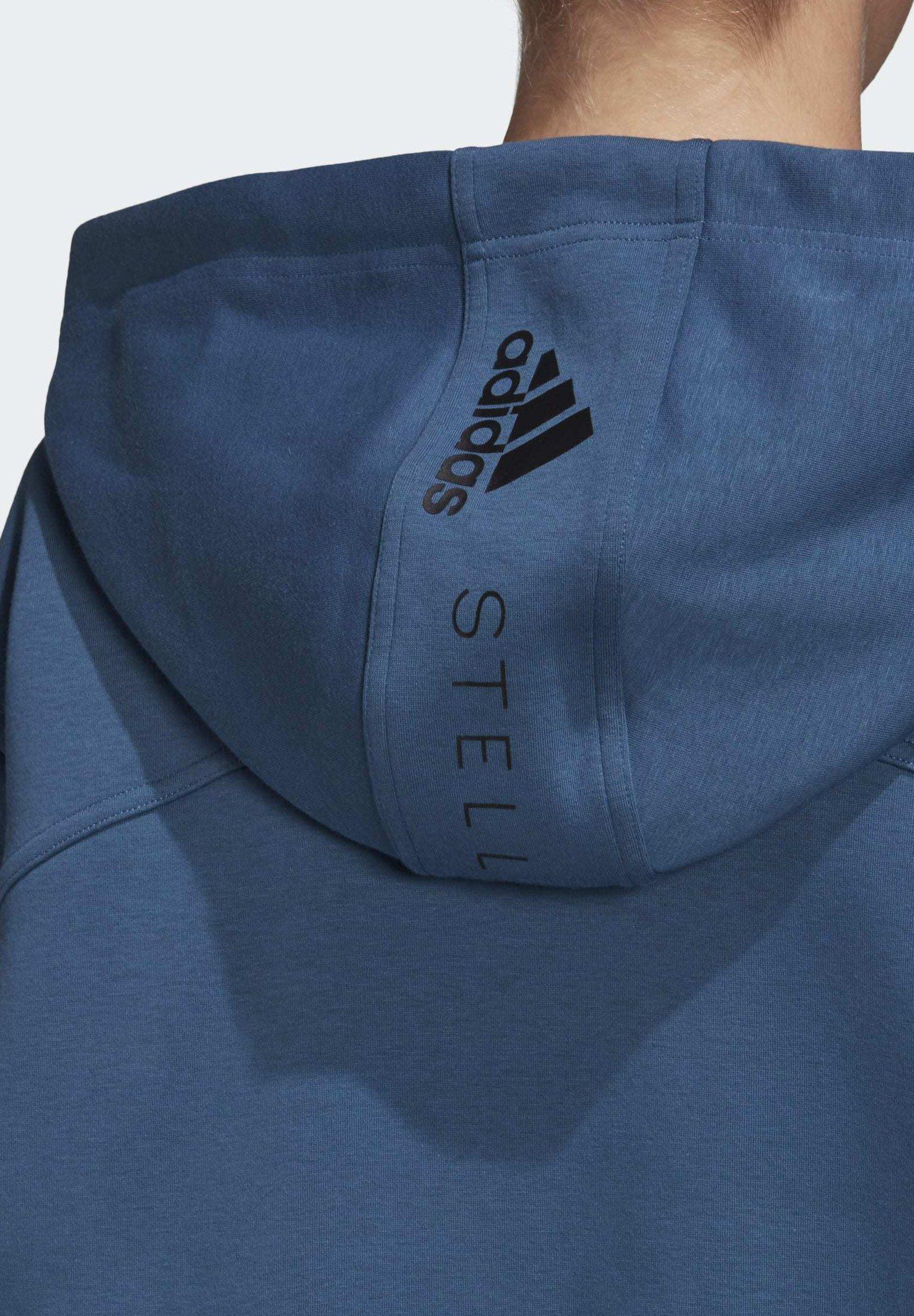 adidas by Stella McCartney OVERSIZE HOODIE - Zip-up hoodie - blue T5rJl